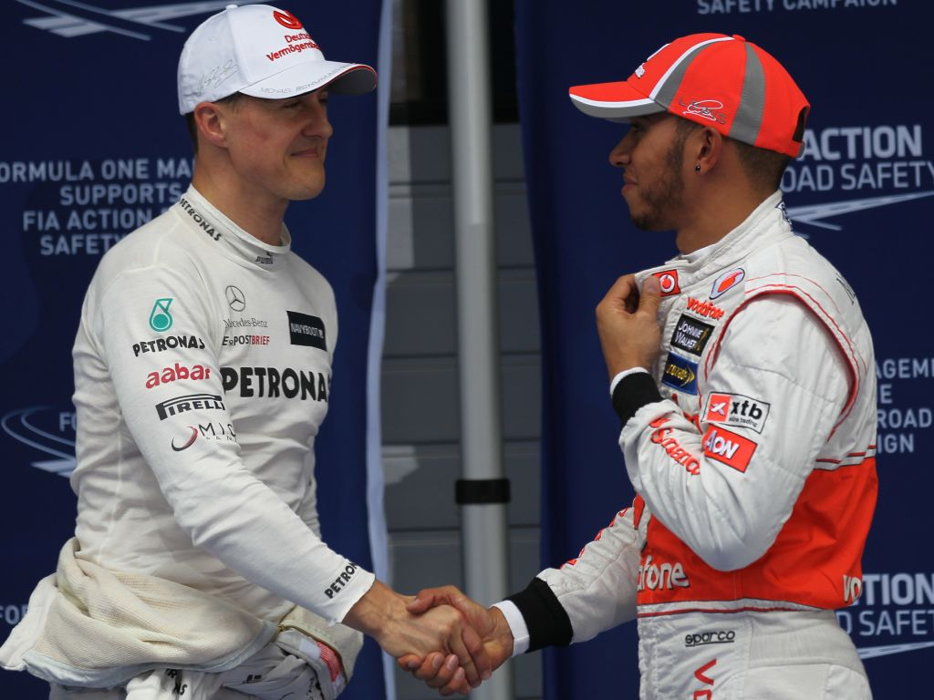 Hamilton e Schumacher, gemelli diversi